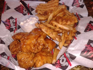 Flamin' Joes has a lot of good grub. I like the waffle fries they serve with their wings.