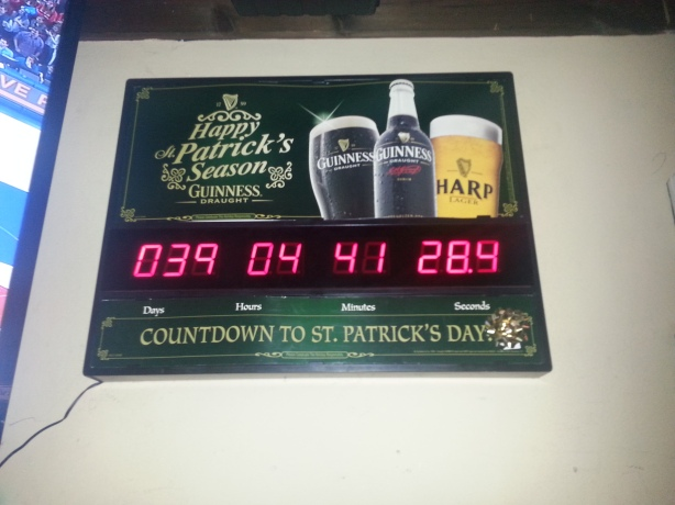 When the timer on the wall hits zero hour, O'Doherty's expldes.